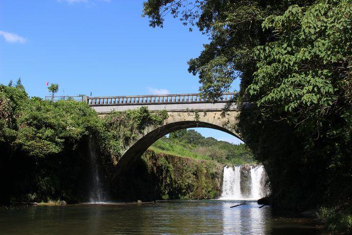 姶良市 金山橋と板井手の滝