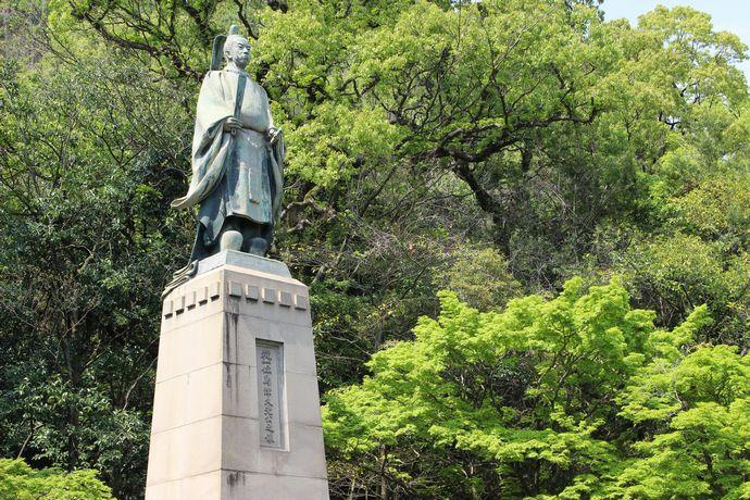 島津久光公銅像:維新に貢献し鹿児島で国葬が行われた今上天皇陛下の高祖父