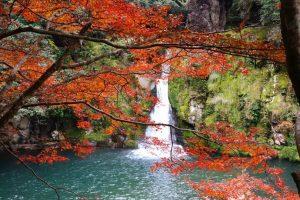 観音滝公園の紅葉と景色&温泉を楽しむ
