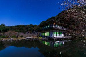 夜の岩屋公園で天体×日本建築の写真を撮ろう!【南九州市川辺町】