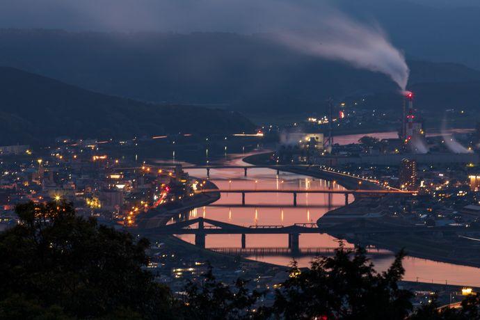 薩摩川内市の夜景の夕景