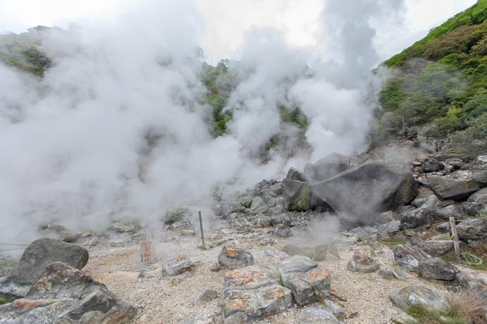 八幡大地獄:栗野岳温泉が誇る噴気孔の数々!大地のエネルギーを堪能しよう!【湧水町】