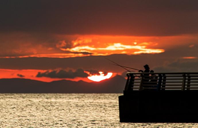 江口浜からの夕日が美しいらしいので訪ねてみた【日置市東市来町】