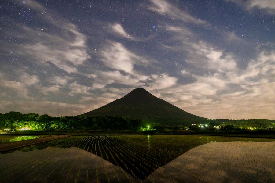 薩摩富士 開聞岳と水田の美しい姿を撮ってきた!【指宿市】
